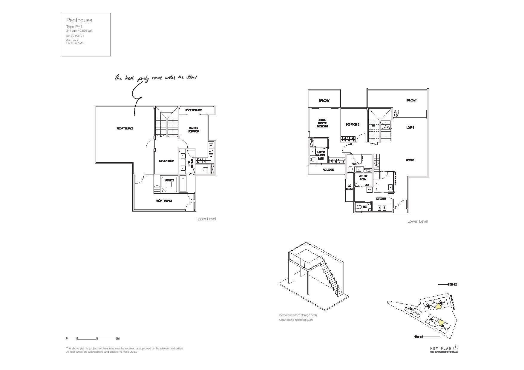 Mon Jervois Penthouse Floor Plans Type PH1