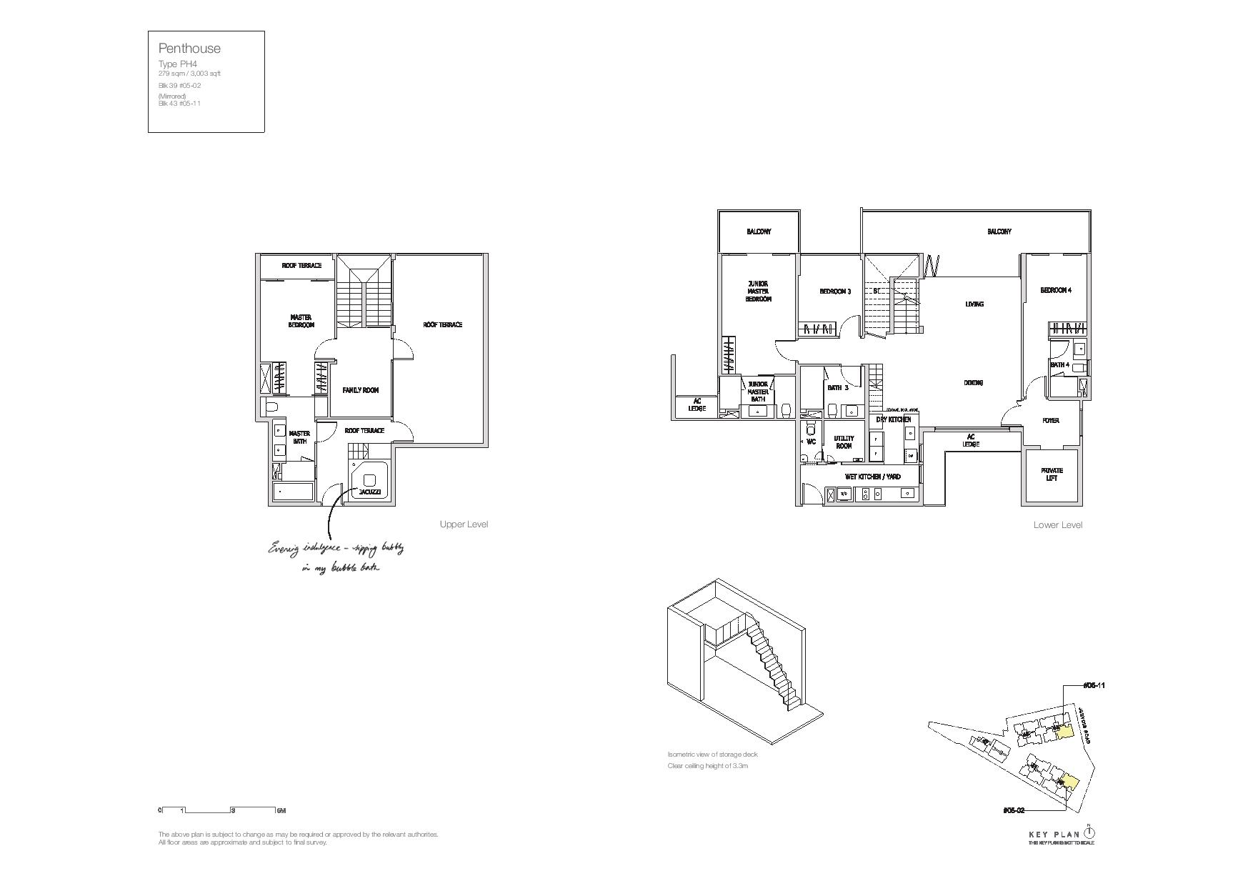 Mon Jervois Penthouse Floor Plans Type PH4