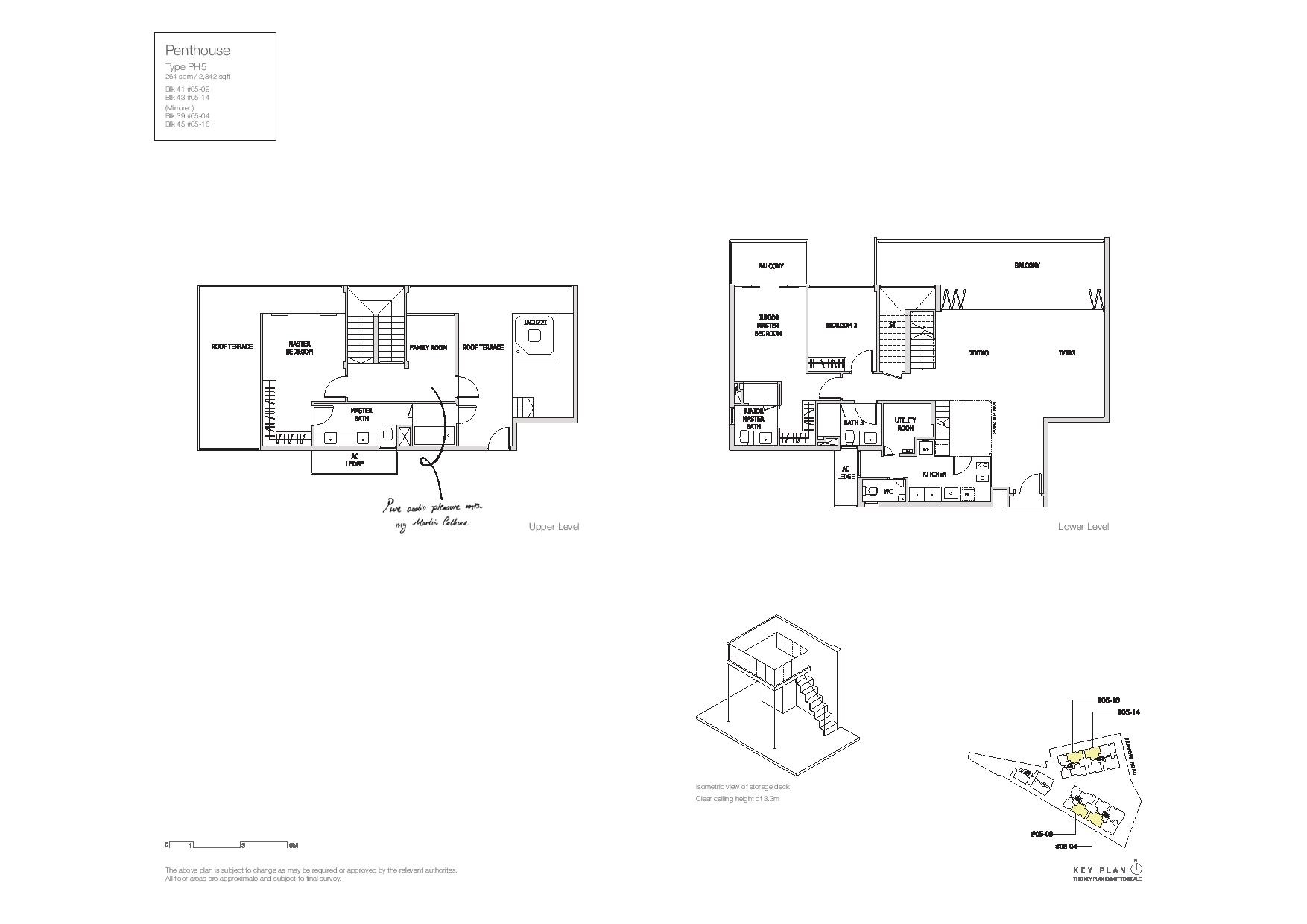 Mon Jervois Penthouse Floor Plans Type PH5