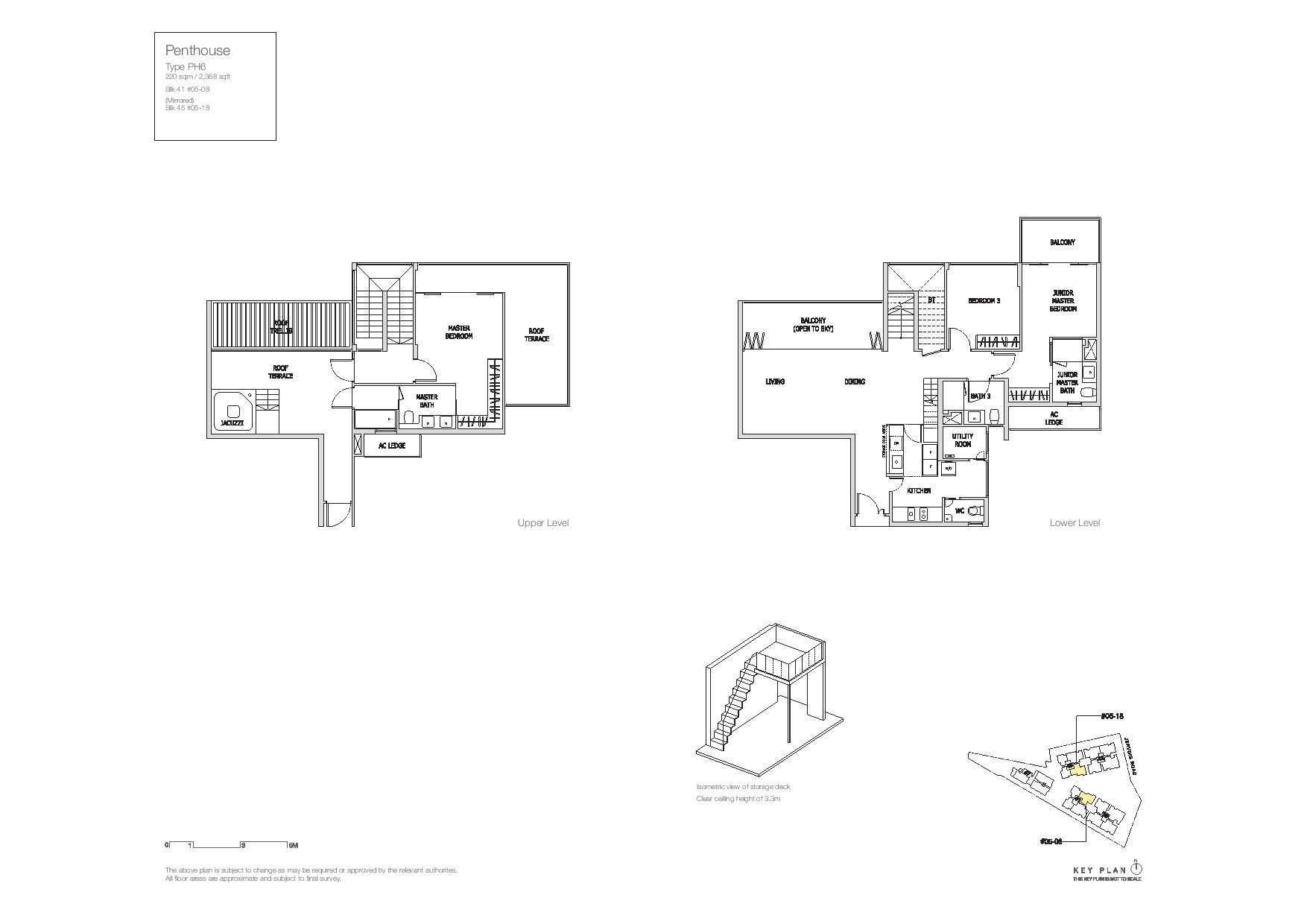 Mon Jervois Penthouse Floor Plans Type PH6